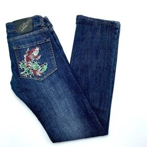 "Ed Hardy Jeans - Ed Hardy  Skinny Jeans, Size 27"", EUC"